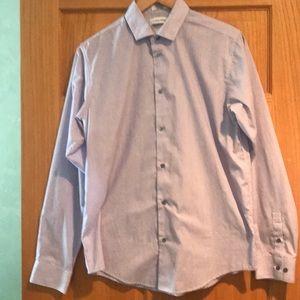 CALVIN KLEIN Boys button down shirt slim 20 EUC